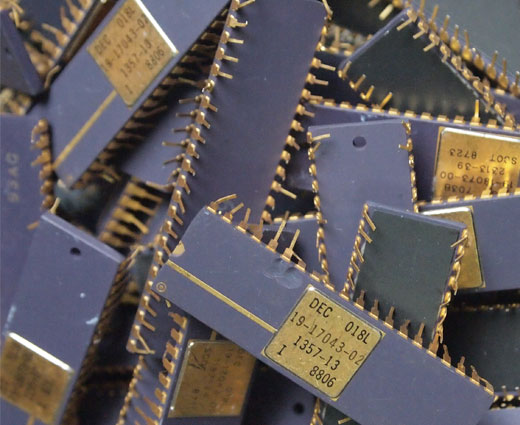 sell gold ic chips