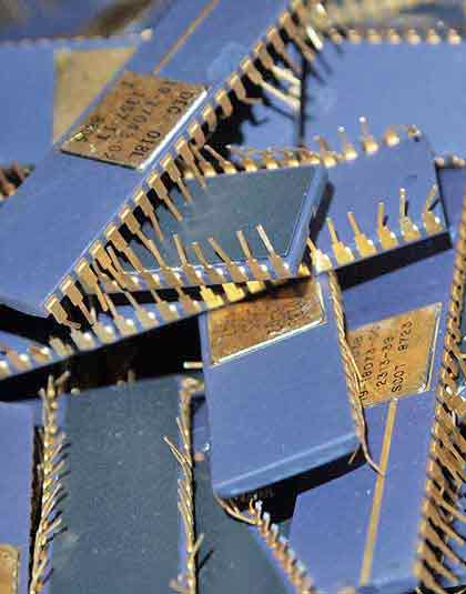 sell gold plated ic chips
